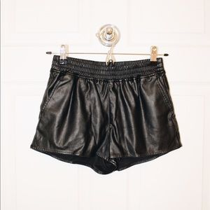 Divided by H&M Leather Shorts